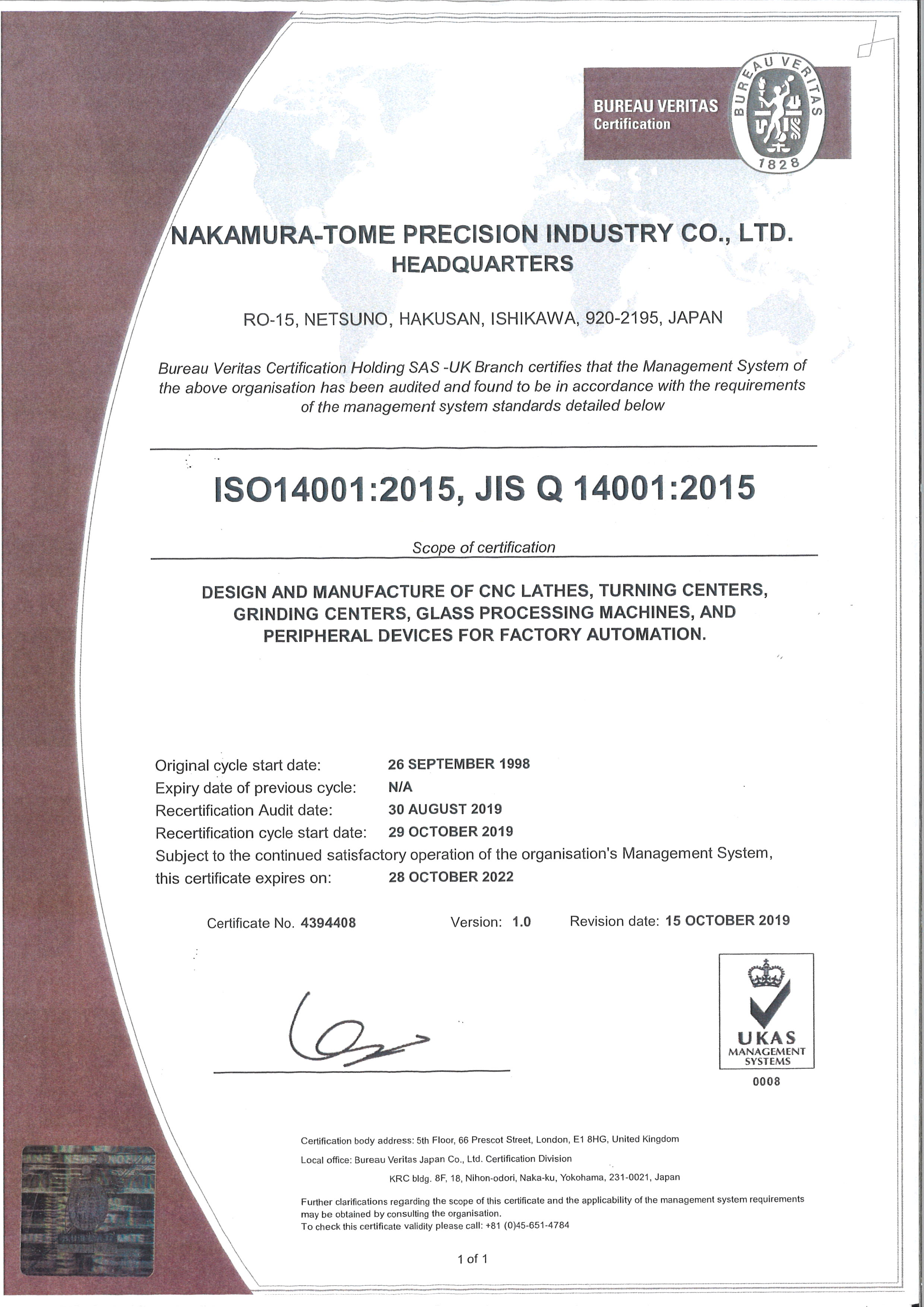Environmental Protection ISO14001 Accredited